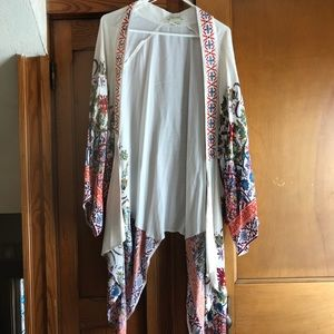 festival style Light material draped cardigan